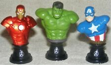 Marvel Avengers Iron Man Incredible Hulk Captain America Mini Bust Paperweight