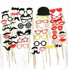 50PCS Wedding Photo Booth Props On A Stick Mustache Party Fun Birthday Favor