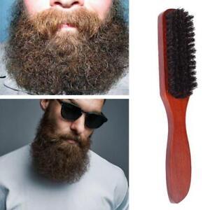 Wild Boar Bristle Hair Brush Stiff Natural BristlesWooden