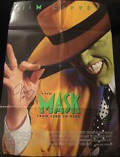 """JIM CARREY SIGNED AUTOGRAPH """"THE MASK"""" RARE ORIGINAL 1994 27x40 MOVIE POSTER"""