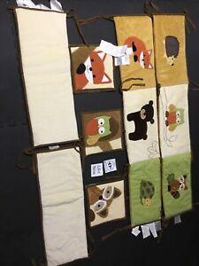 Lambs & Ivy Boy 7 Piece Crib Set - Owl, Fox ,Turtle / Bear / Raccoon / Porcupine