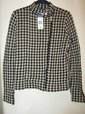 Chaps black/cream houndstooth jacket/blazer, size Medium, New!