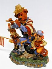 Boyds Bears, Folkstone Coll., Sam, Libby & Ellis...Fife and Drum, 2886 - No Box