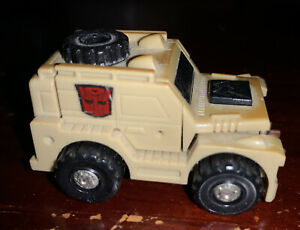 Vintage Takara 1985-86 Transformers G1 Autobot Outback Tan Jeep minibot Used