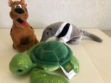 Plush animals Beanie Baby Scooby Doo & Anteater Wild Republic Green Turtle