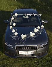 wedding car decoration, ribbon, bows, prom limo decoration ,GRETA white