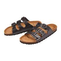 Newalk Pantolette Wupper ähnlich Florida schwarz Original Birkenstock Fußbett