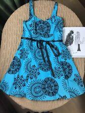 Dress Barn Sundress Retro Rockabilly Swing Pinup Party Dress Mesh Trim Sz 14W 14