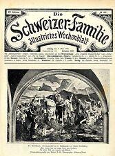 Der Rütlischwur.Titelblatt- Photo des Freskogemäldes in der Tellskapelle 1909