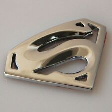 TWO - 3D Superman Car Badge Emblem Decal 3M Stick On Chrome Hood Fender Trunk