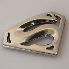 3D Superman Car Badge Emblem Decal 3M Stick On Chrome Sticker Hood Fender Trunk