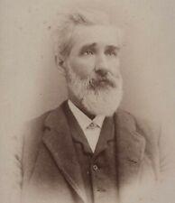Man Mustache Beard Binghamton NY Antique Cabinet Photo Keystone Portable Gallery