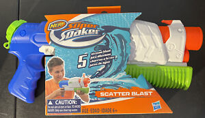 Hasbro Nerf Super Soaker Scatter Blast Water Gun 5 stream- NEW