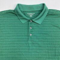 Croft & Barrow Polo Shirt Men's Size 2XL XXL Short Sleeve Green Striped Golf