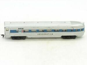 TYCO Trains Amtrak Lighted Observation Blue and Silver Lights Work