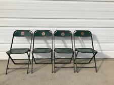 Folding Chairs Set Metal Vintage Antique DFW Waiting Room Theater Stadium  Seats