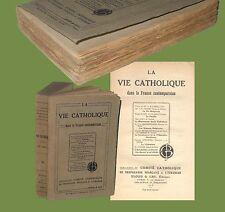 La vie catholique dans la France Contemporaine Bloud & Gay 1918 Religione