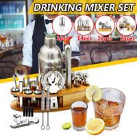 4 Type Cocktail Shaker Bar Set Mixer Making Kit Bartender Stainless Steel Set /