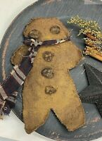 Extreme Primitive Gingerbread Man Bowl Filler Christmas Handmade FREE SHIPPING