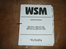 Kubota ZD1211 ZD1211R Zero Turn Mower Shop Service Repair Manual