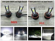 MINI 9005+H11 Combo Cree LED Headlights Bulb Kit High Low Beam 6000K Super WHITE