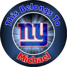 Personalized NY NEW YORK GIANTS Property Stickers name tags School book Labels