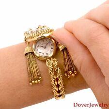 Antique Retro Longines Diamond 14K Gold Ladies Watch Bracelet 43.1 Grams NR