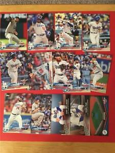 2018 Topps Opening Day Los Angeles Dodgers Master Team Set 14 Cards Inserts
