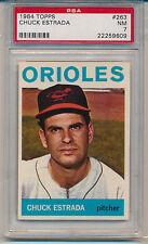 1964 Topps Chuck Estrada (#263) PSA7 PSA