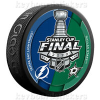 2020 Stanley Cup Final Dueling Hockey Puck Dallas Stars vs Tampa Bay Lightning