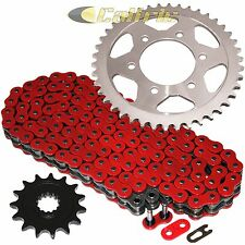 RED O-Ring Drive Chain & Sprockets Fits KAWASAKI ZR1000 Z1000 SX 2011-2015