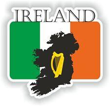 Sticker of Ireland Map Flag Coat for Bumper Truck Laptop Car door fridge