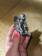 Pewter Pixie Fairy Boy Holly leaf berries decorative fairie Figure