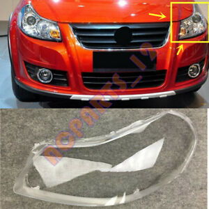 Left Side Headlight Cover Clear PC With+ Glue Replace For Suzuki SX4 2007-2012