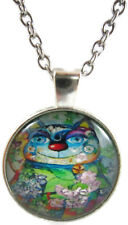 Weird Necklace Blue Jewelry Cat Pendant Xmas Gift for Holiday Cute Cheap Unusual