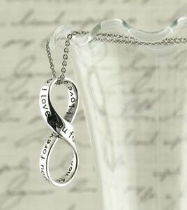 I Love You Forever Infinity Pendant ONLY - Symbol Sterling Silver wh62