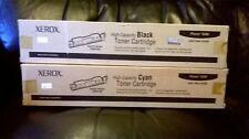 GENUINE XEROX Phaser 6300 High Capacity Black & Cyan Toners 106R01085/2 VAT inc
