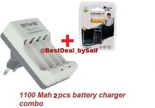 Combo pack ENVIE 1100MAH AAA 2NOS INFINITE RECHARGEABLE CAMERA BATTERY+ Charger