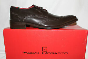Pascal Morabito Mens RONALD Brown Leather Formal Derby Shoes BNIB UK 7 RRP £250