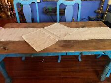 Homespun beige table runner and two matching placemats