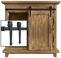 2-10FT Single Super Mini Sliding Barn Door Hardware Kit Cabinet TV Stand Arrow
