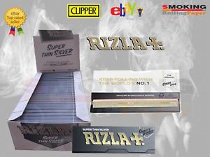 Rizla Cartine Argento Silver Misura Corta Standard Regular Grigie 50 Libretti