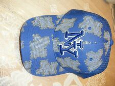 MENS NY MINGXIN BASEBALL CAP USA BLUE GOLD WHITE NWT