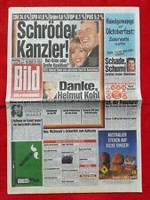 BILD-Zeitung (28.9.1998): Schröder Kanzler! Danke, Helmut Kohl