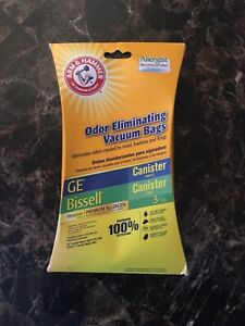 ARM & HAMMER ODOR ELIMINATING VACUUM BAGS! GE CANISTER (VC-396) BISELL (48K2)