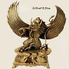 12  Tibet Bronze Buddhism Redpoll Winged Garuda Bird Eagle Buddha Temple Statue