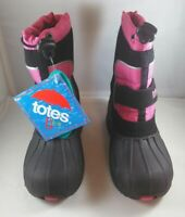 Totes Youth Kids Snow Waterproof Winter Boots Black / Pink Size Girls 12 Medium