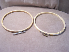 """Wood Embroidery Rings - 7"""" - Used"""