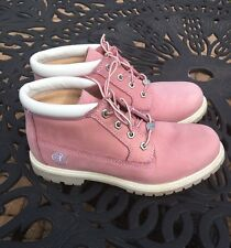 Timberland 🌸Pink🌸Suede Leather Anti-Fatigue Waterproof Boots.Women's 10-W..VGC