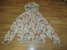 Next girls beigelight weight hooded flowered summer jacket 11 years